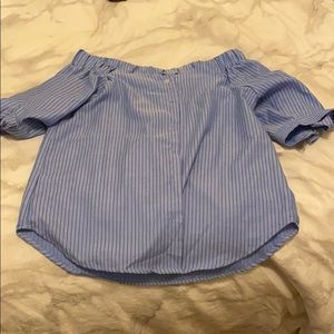 off the shoulder striped blouse, never worn !